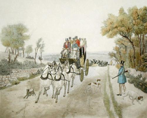 Stagecoach (Restrike Etching) by Samuel J. E. Jones