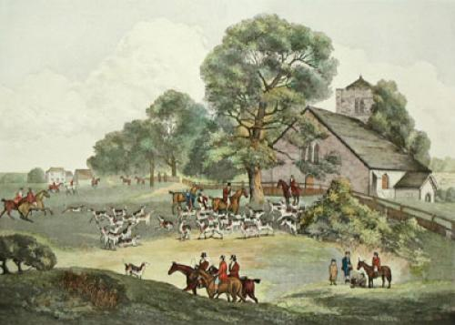 Hounds Meeting (Restrike Etching) by Dean Wolstenholme