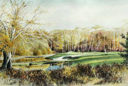 Wentworth (Ninth Hole) (Restrike Etching) by Terence Gilbert