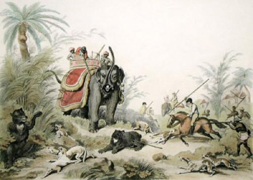 Death of a Bear (Restrike Etching) by Samuel Howitt