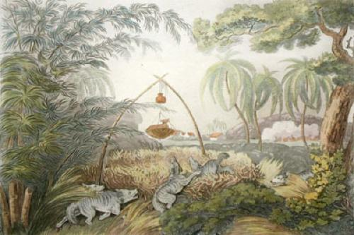 The common wolf trap (Restrike Etching) by Samuel Howitt