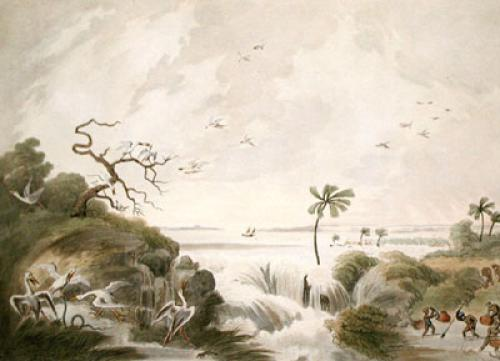 Ganges Breaking its Banks (Restrike Etching) by Samuel Howitt