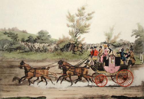 Cambridge Safty Coach (Restrike Etching) by E.F. Lambert