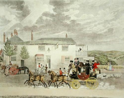 View of the Highgate Road (Restrike Etching) by James Pollard
