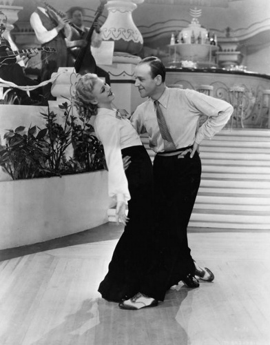 Fred Astaire and Ginger Rogers by Hollywood Photo Archive