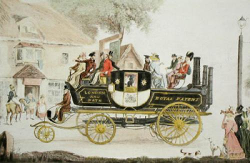 New Steam Carriage, 1828 (Restrike Etching) by Garner Morton