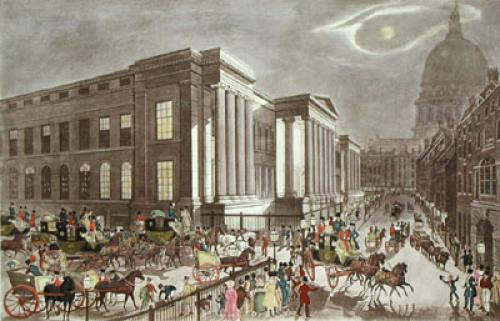 Royal Mails Start. From G.P.O. (Restrike Etching) by James Pollard