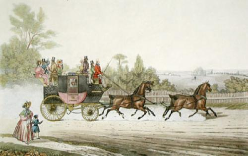 Red Rover, Southampton Coach (Restrike Etching) by James Pollard