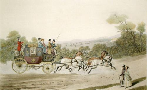 The New London, Royal Mail (Restrike Etching) by James Pollard