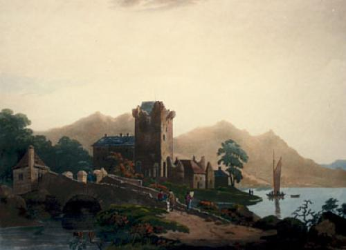 Ross Castle, Lake of Killarney (Restrike Etching) by Thomas Walmsley