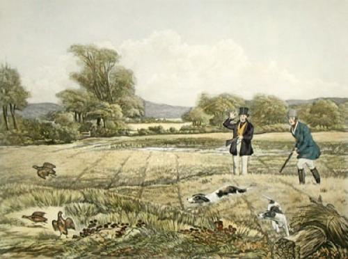 September, Partidge, Shooting (Restrike Etching) by Francis Calcraft Turner