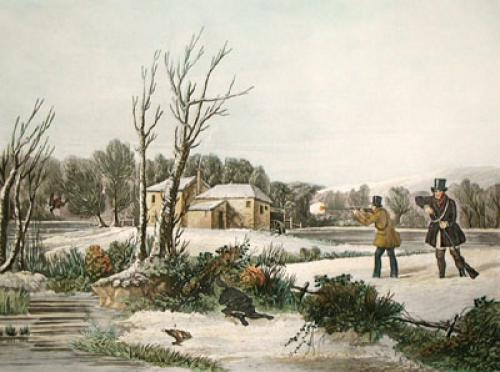January, Snipe Shooting (Restrike Etching) by Francis Calcraft Turner