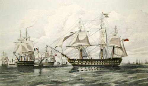 Fleet off Hango (Restrike Etching) by Oswald W. Brierley