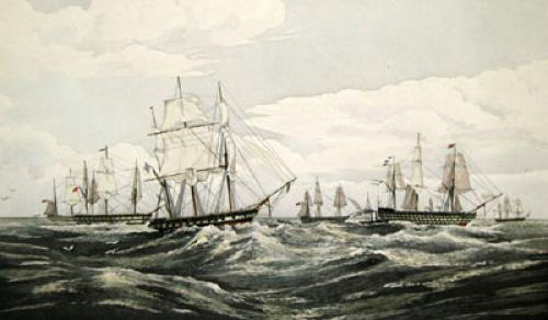 Sending Letters (Restrike Etching) by Oswald W. Brierley