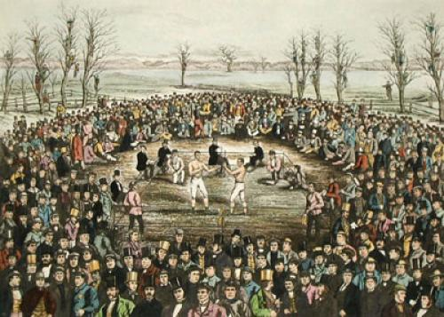 Great Contest, Sayers & Heenan (Restrike Etching) by J Rowbotham