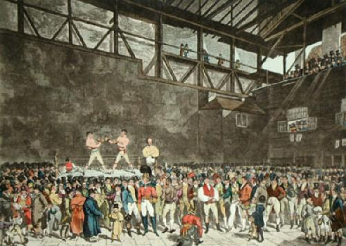 Interior of the fives court (Restrike Etching) by T. Black