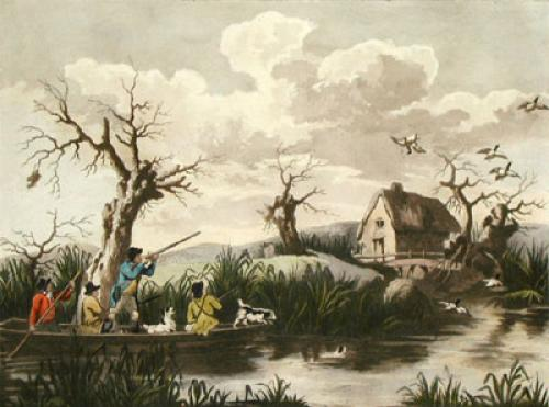 Duck Shooting (Restrike Etching) by George Morland