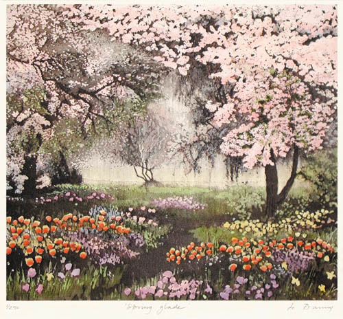 Spring Glade (Restrike Etching) by Jo Barry