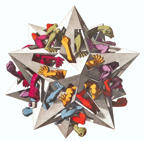 Gravity by M.C. Escher