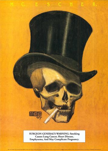 Skull by M.C. Escher