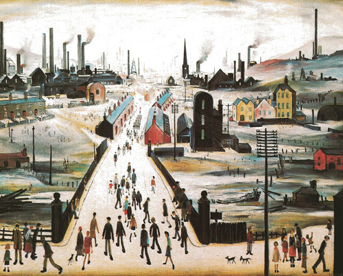 Canal Bridge by L S Lowry