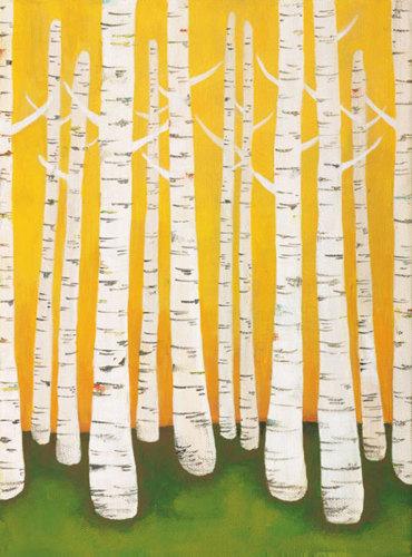 Autumn Birches by Lisa Congdon