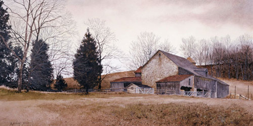 Farm on the Hill by Ray Hendershot