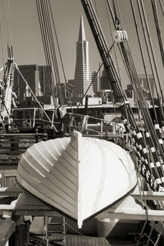 Lifeboat and San Francisco Skyline by Christian Peacock