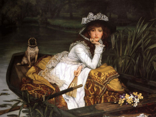 Lady in a Boat by James Jacques Joseph Tissot