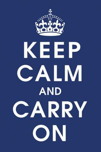 Keep Calm (navy) by Anonymous