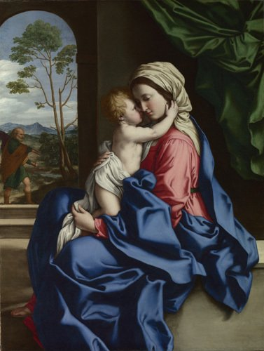 The Virgin and Child Embracing by Sassoferrato (Giovanni Battista Salvi)