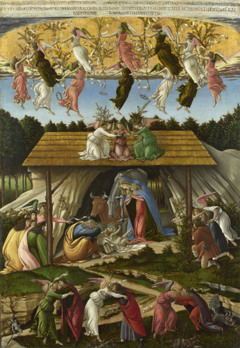 Mystic Nativity by Sandro Botticelli