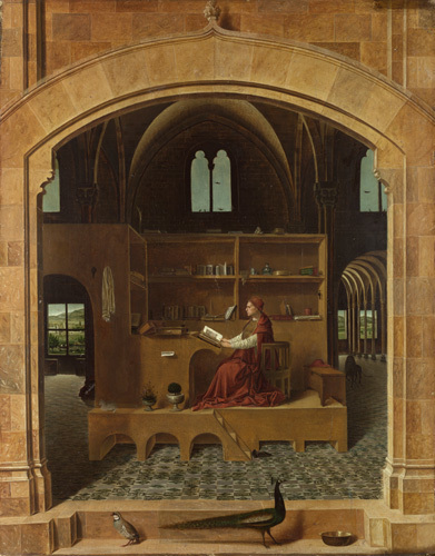 Saint Jerome in his Study by Antonello da Messina