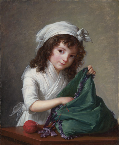 Mademoiselle Brongniart by Louise Elisabeth Vigee Le Brun