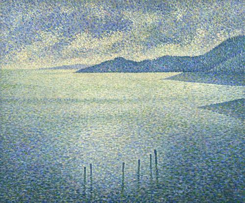 Coastal Scene by Theodore van Rysselberghe