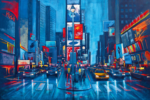 Times Square Blue by Phil Wilson