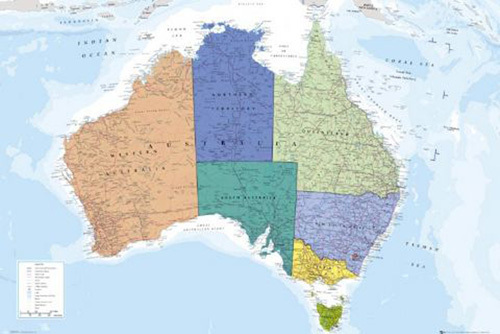 Australia - Map by Anonymous