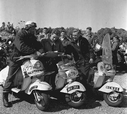 Scooter rally, Northeast England 1958 by Mirrorpix