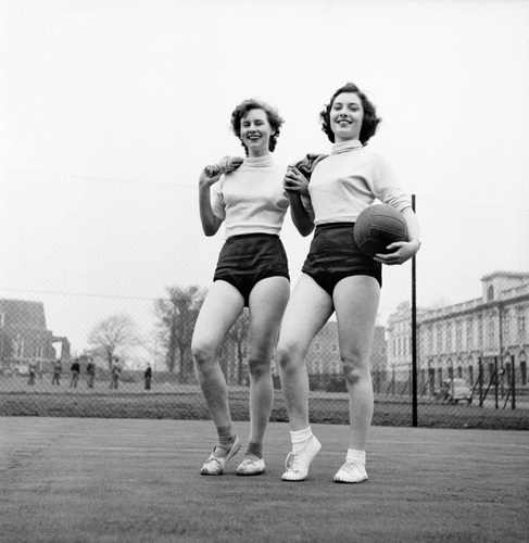 Ladies netball players, Roath Park 1953 by Mirrorpix