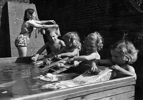 Nursery, London 1948 by Mirrorpix