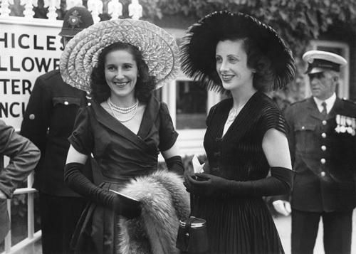 Ascot fashions, 1950 by Mirrorpix