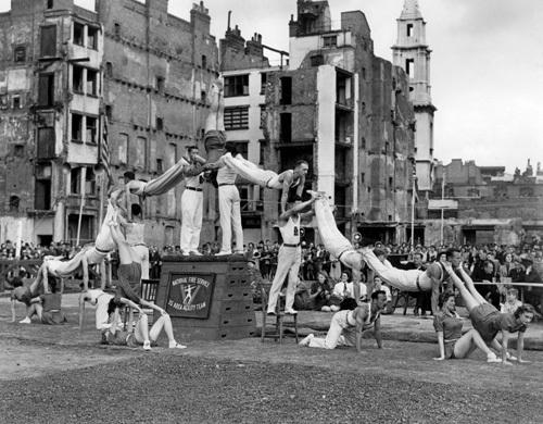 Fire Service gymnastics team, 1943 by Mirrorpix