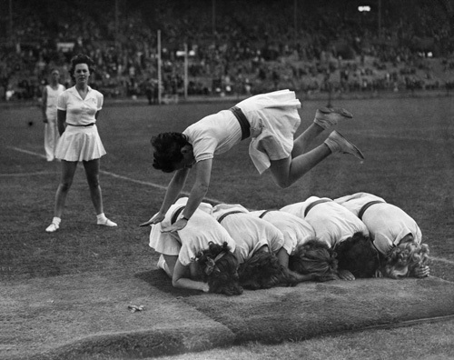 Fire Service gymnastics display, 1943 by Mirrorpix
