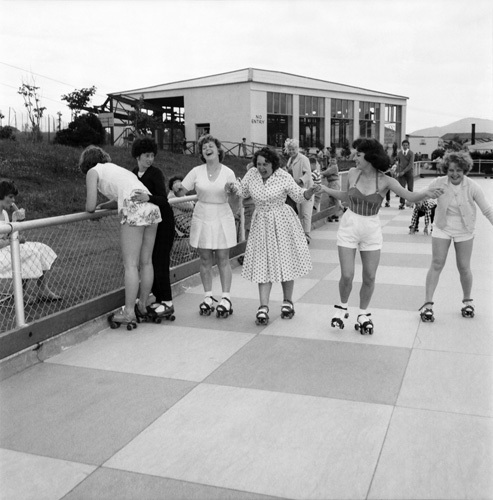 Butlins roller-skating, Pwllheli 1960 by Mirrorpix