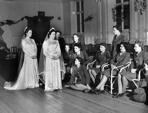 ATS in wedding dresses, 1944 by Mirrorpix