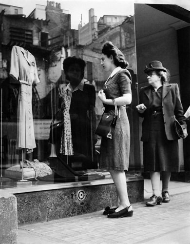 Clothes rationing, Birmingham 1946 by Mirrorpix
