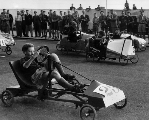 Scouts soap box derby, Brighton 1948 by Mirrorpix