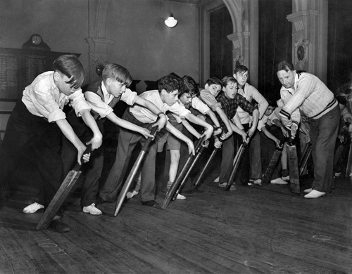 Cricket coaching, 1953 by Mirrorpix