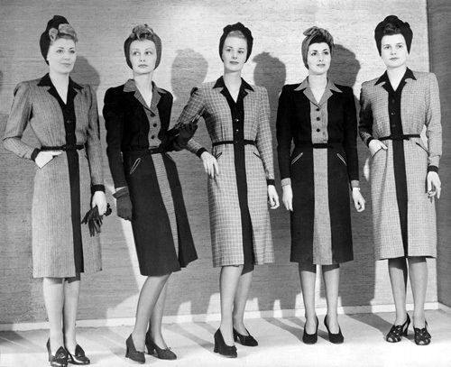 Fashion models, 1941 by Mirrorpix