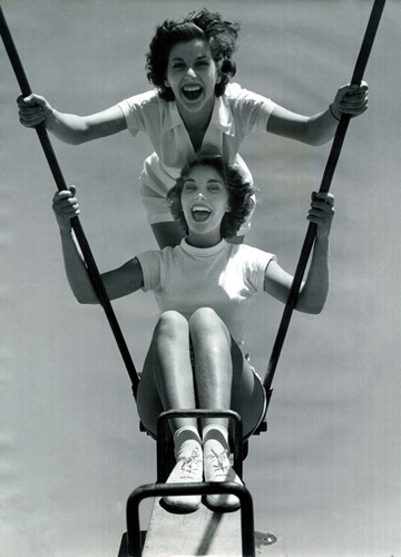 Butlins swing, Pwllheli 1960 by Mirrorpix